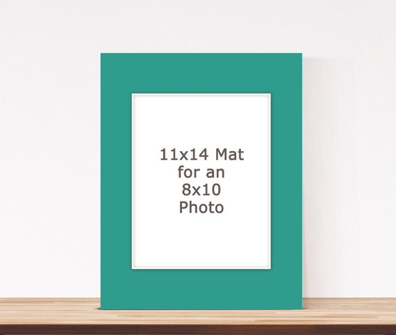 11x14 Photo Mat For An 8x10 Photo By Cheekysheepwoodshop