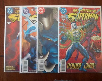 Lot of 4 Adventures of Superman DC Comic Dooks