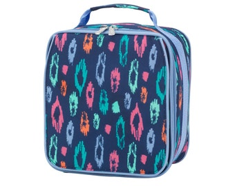 Laney Leopard Lunch Box {Free Monogram}
