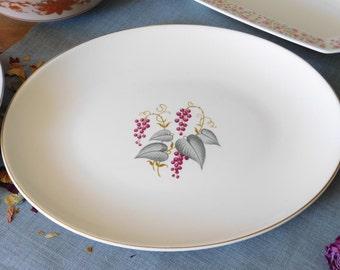 Edwin Knowles China Platter Vintage Pattern
