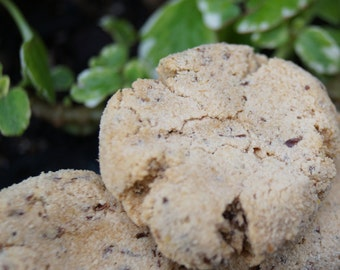 Organic and Vegan Crinkle Dog Treats - All Natural and Gluten Free Dog Treats - Flax Seed and Coconut Dog Treats