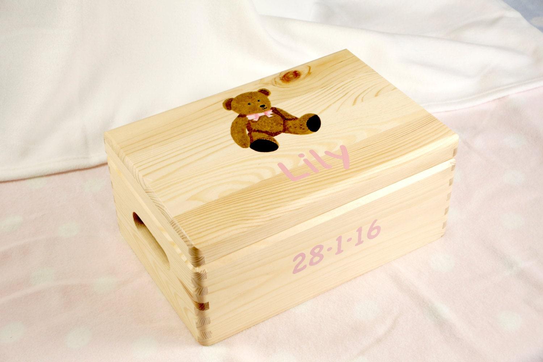 personalised baby keepsake box baby memory box wooden baby. Black Bedroom Furniture Sets. Home Design Ideas