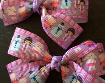 Doc McStuffins pigtail bows