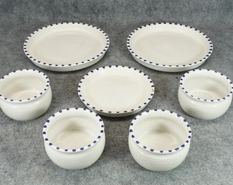 Block Gresval Portugal Staccato Blue Bowls and Plates