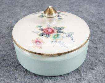 Vintage Kaolena Pottery Powder Box C. 1950s