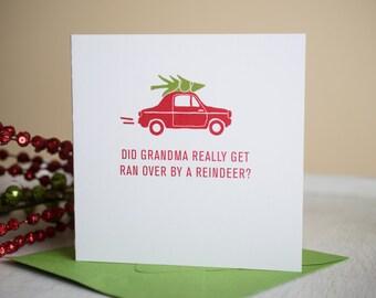 Funny Christmas Card, Holiday Humor, Holiday Greeting, Merry Christmas, Happy Holidays, Paper Christmas, Christmas Card, Holiday Funny