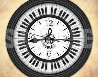 Piano Keys Decorative Wall Clock