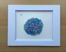 Original watercolor painting, hydrangea painting, flower painting, 11x14