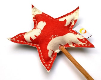 Dress Up Kids Play - Natural Play - Fairy Wand - Waldorf Toy - Star Wand - Red, White and Blue - Halloween Dress Up Costume Wand