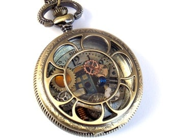 "Doctor Who Pocket Watch Necklace ""Sonic Transference"""