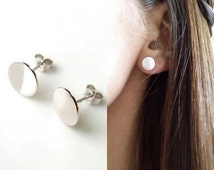 Silver earrings 925 - large pellets - chips circles earrings Silver 925/000 - 925 silver earrings