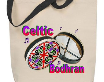 Celtic Bodhran Tote Bag