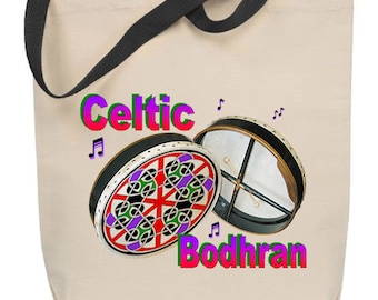 Celtic Bodhran Tote Bag - Free Shipping
