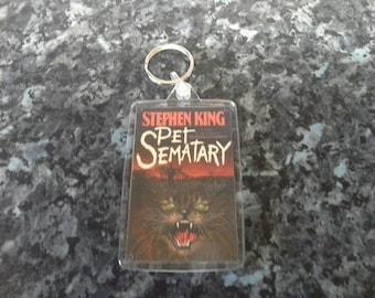 Pet Sematary Jumbo Keyring. Stephen King Book Art. Horror Author. Cemetery