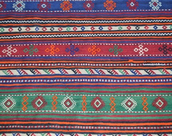 FREE SHIPPING 12'5 by 5 FT Beautiful Full Soumak Traditional Tribal Area Rug