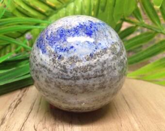 "2 1/2"" Lapis Lazuli Sphere ~ Perfect for Crystal Healing, Crystal Grid, Lapis Ball ~ Metaphysical Healing, Meditation"