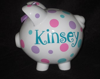 Piggy Q's Personalized Piggy Bank