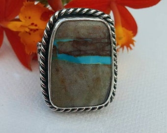 Sterling Silver Ribbon Turquoise