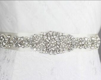 bridal sash, wedding dress sash, bridal belt