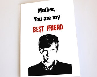 Funny card for Mom, Greeting card, Birthday, Mother's Day or blank inside options, Bates