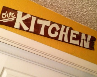 Rustic Kitchen Sign, Kitchen Decor, Country Kitchen, Farm House Decor