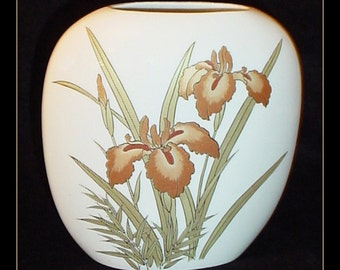 Royal Iris Vintage Porcelain Vase Made in Japan