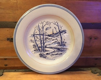 Christmas Plate Louisville Stoneware-Made in Kentucky 1980s/90s