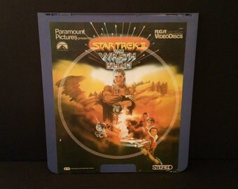 Vintage Star Trek II The Wrath of Khan CED Capacitance Electronic Disc Video Disc