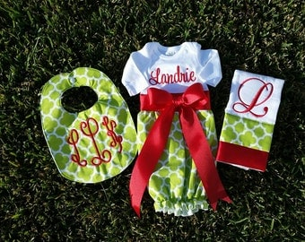 custom personalized newborn christmas coming home gown outfit
