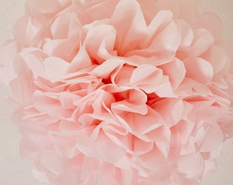 Light Pink Paper Pom Pom