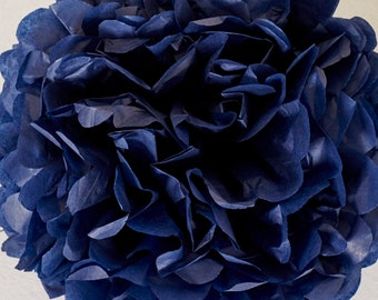 Midnight Blue Paper Pom Pom