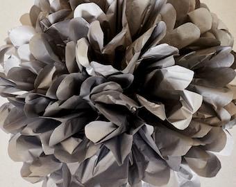 Silver Paper Pom Pom