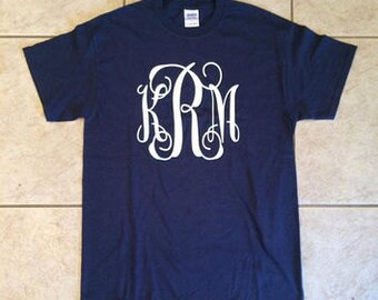 Monogrammed Vinyl Tshirts