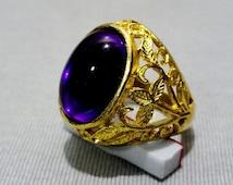 Haunted LP 711,000 Marid Djinn Talisman Ring Powerful New Arrival Magic Glassy Purple