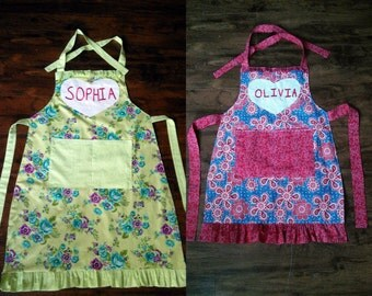 Custom Personalized Ladies Apron~ Various Prints~ Cotton~ Choose Your Own Print/ Color~ Modest Clothing