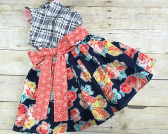 Haven Dress - Custom (you choose fabric) Available in sizes 6-12 months through 10)