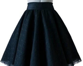 Tea length skirt, skirt, skirt, skirt black tulle prom dress, black skirt full wheel