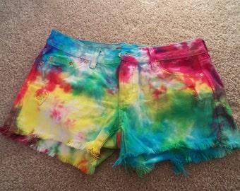 Tie-Dye Shorts *Ready To Ship! Size 4