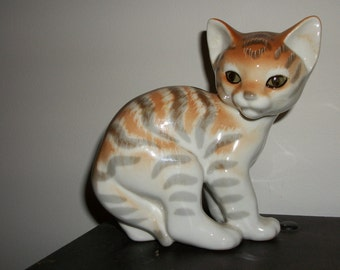 Abyssinian cat Lomonosov figurine