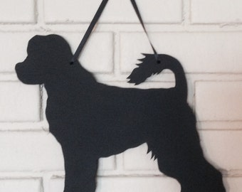 Portuguese Water Dog Handmade Chalkboard  Wall Hanging - Chalkboard Silhouette - Shadow - Country Decoration - Dog