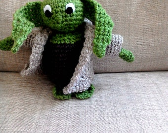 Yoda from Star Wars Hand Crocheted Toy