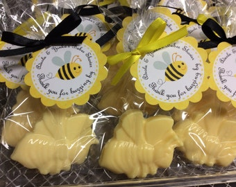 Bumble bee soaps (10 favors) bumble bee baby shower school function bachelorette party