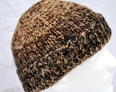 Hand Spun, Hand Knit, Alpaca Winter Hat. This is a nice, warm, beanie, toque, watch cap, ski hat, or winter hat.