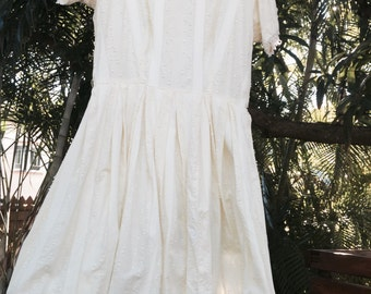 Vintage 50's swiss cotton dress