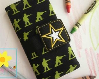 Crayon Roll, Crayon Wallet, Crayon Caddy, Crayon Holder, Crayon Roll Up, Crayon Keeper, Crayon Organizer, Crayon Tote, Army, Military