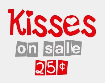 Kisses on Sale Valentine - Bodysuit or T-Shirt