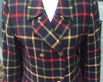 Womens vintage 1980's tartan jacket. (UK 10)