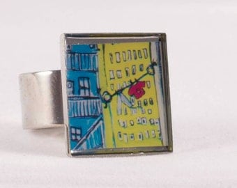 Also available as a pendant yellow square ring clotheslines