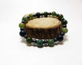 Moss Agate Stretch Bracelet