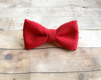 Baby/Toddler/Kid Red Polka dot- red and white dot - clip on
